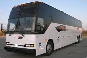 White motor coach