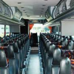 charter bus with leather seating